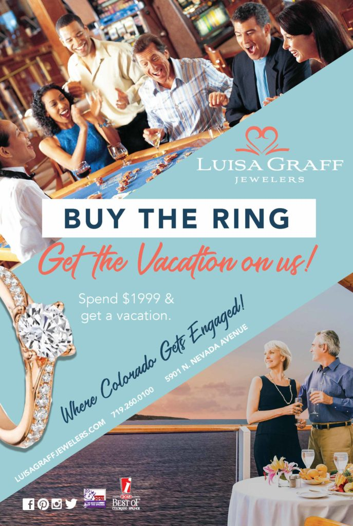 vacation jewelry ad for colorado springs jeweler